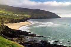 Irish coastline. Dunquin bay at sunny day in Ireland - Co. Kerry Royalty Free Stock Image