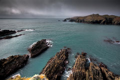 Irish coastline cliff landscape intense colors Stock Images