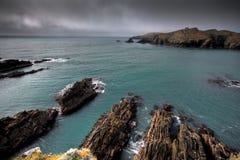 Irish coastline cliff landscape intense colors Stock Images