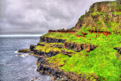 Irish coastline near the Giants Causeway Stock Image