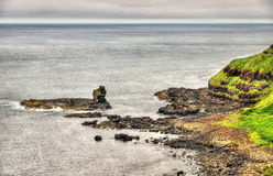 Irish coastline near the Giants Causeway Stock Photo