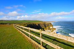Irish coastline in Springtime Stock Photo