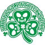 Irish coat of arms with skull and clover Stock Image
