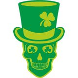 Irish coat of arms with skull and clover Royalty Free Stock Photos