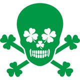St.Patrick`s Day- skull Royalty Free Stock Photography