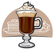 Irish coffee Royalty Free Stock Image