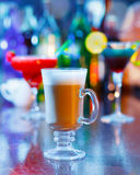 Irish coffee  bar interior. Irish coffee on bar interior Stock Images