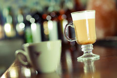 Irish coffee at the bar table Stock Images