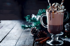 Irish coffee casalingo immagini stock