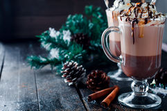 Irish coffee casalingo fotografie stock libere da diritti