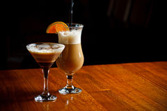 Irish coffee and coffee cocktail Stock Images