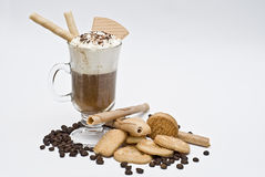 Irish coffee with cookies. Royalty Free Stock Photos