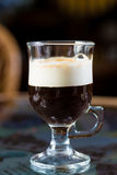 Irish coffee glass Royalty Free Stock Images