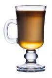 Irish coffee. Glass of irish coffee cocktail with irish whiskey Royalty Free Stock Photo