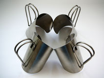 Irish Coffee glass holders Royalty Free Stock Photography