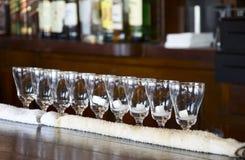 Irish coffee glasses Stock Photography
