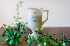 Irish coffee il giorno di St Patrick fotografia stock libera da diritti