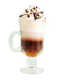 Irish coffee  isolated. On white background. clipping Path Stock Image