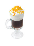 Irish coffee  isolated on white background. Stock Photography