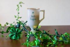 Irish coffee per il giorno di St Patrick fotografie stock libere da diritti