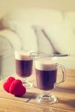 Irish coffee romantici fotografia stock