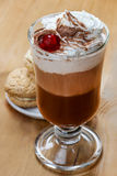 Irish coffee and stack of cookies Stock Photo