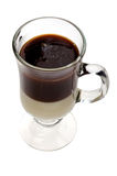 Irish coffee on white Royalty Free Stock Image