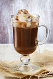 Irish coffee  on wooden table Royalty Free Stock Photography