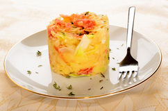 Irish colcannon served on a plate Royalty Free Stock Images