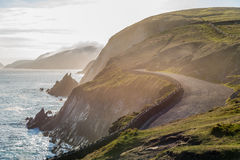 Irish Costal Road In Spring Evening Royalty Free Stock Photo