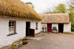 Old Irish cottage. Irish cottage in countryside. Old village Royalty Free Stock Photography
