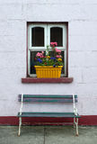 Irish cottage flower box window Stock Photos