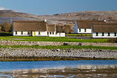 Irish cottage houses in Burren Stock Photos