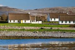 Irish cottage houses in Burren. Co. Clare Stock Photos