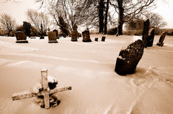 Irish country graveyard Royalty Free Stock Photography