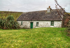 Irish country house. Traditional cottage house in west Ireland - HDR Royalty Free Stock Photo