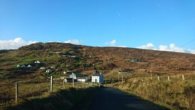 Irish Country Side County Donegal. Irish Countryside in County Donegal Ireland with blue skies Royalty Free Stock Photography