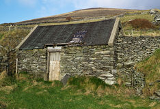 Irish country side house. Small old fashion irish country side house Stock Photo