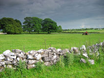 Irish countryside. Dark menacing sky royalty free stock photo