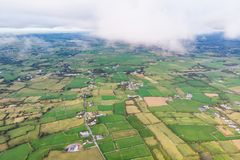 Irish Countryside Aerial royalty free stock photography