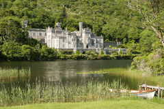Irish Countryside Castle. An Irish castle in the countryside. Located next to a lake, this was originally the residence for Irish nobility and is now a convent royalty free stock photos