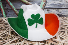 Irish Cowboy. An Irish cowboy hat against a rustic background Royalty Free Stock Photography