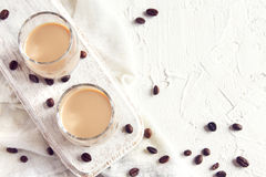 Irish cream coffee liqueur Stock Image