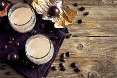 Irish cream coffee liqueur Royalty Free Stock Image