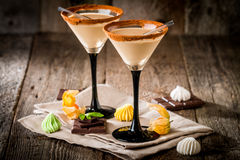 Free Irish Cream Liqueur In A Glass Royalty Free Stock Photo - 63466305