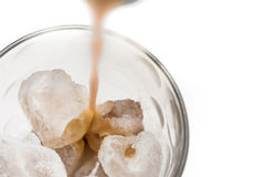 Irish cream on the rocks Stock Photo