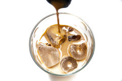 Irish cream on the rocks Royalty Free Stock Image