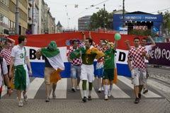 Irish and Croatian fans Royalty Free Stock Image