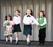 Irish dance. Royalty Free Stock Images