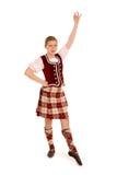 Irish Dancer. A Teenage Irish Dancer in Celtic Costume Royalty Free Stock Photo